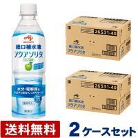 (2ケースセット送料無料) アクアソリタ ペットボトル 500mL×24本×2ケース 48本 経口補水液 味の素 (平日午前11時迄のご注文で即日発送)