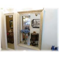 新品・大型アンティーク調シンプルデザイン壁掛け鏡【かがみ/カガミ/ミラー】