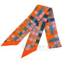 エルメス スカーフ ツイリー シルクツイル Bolduc au Carre ボルデュック・チェック 2014年秋冬コレクション HERMES シルクスカーフ