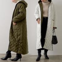 アウター レディース キルティングコート ロングコート 中綿 軽い  あったか 暖かい Cサイズ対応 Tサイズ対応 スザンヌさん着用 秋 冬
