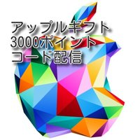 iTunes Card 3000円分 コード通知
