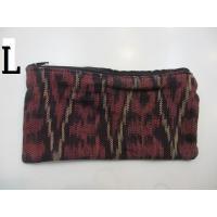 バリ島のイカット織りエスニックペンケース、コスメポーチ
