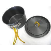軽量で熱伝導性が高いアルミニウム製クッカー。  適度な深さで調理がしやすい広口タイプ。  ふたには蒸...