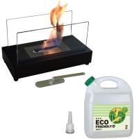 ガレージ・ゼロ バイオエタノール暖炉 長方形  ブラック(屋内・屋外両用)+バイオエタノール4L