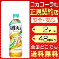 爽健美茶 600ml 48本 2ケース 送料無料 ペットボトル お茶 麦茶 cola