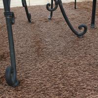 屋外用 人工芝 マット 透水性カラーラグマット 2×2.4m ブラウンnba-cr224b//大型商品のため日時指定不可