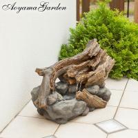 ◆岩と古木を模したファウンテンディスプレイ。 内蔵したポンプが水を汲み上げて、まるで岩清水のように心...