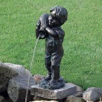 池や蹲などの水辺の演出に。 アンティークなブロンズ調の石像を思わせるオランダ製のウォーターデコレーシ...