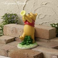 商品番号:48415700 商品名:ガーデンスタチュー音楽隊 プーさん  キャラクターの笑顔が、お庭...
