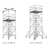 ・材質:スチール ・段数:1段 ・総重量:145 kg ・作業床高さ(m):1.73〜1.85  ・...