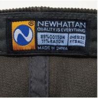 NEWHATTAN ニューハッタン コーデュロイ キャップ  CAP  ブラック