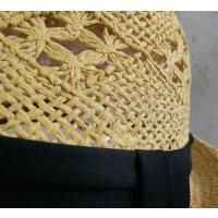 帽子 模様透かし編みストローハット メッシュ中折れハット(店内商品2点以上ご購入で送料無料)