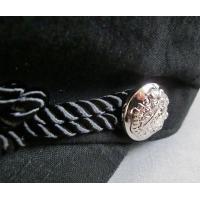 (店内商品2点以上ご購入で送料無料) マリン キャスケット マリン帽 春 夏 麻 綿 シルバーボタン ロープ トレンド コットン 帽子