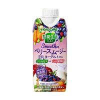 カゴメ 野菜生活 100smoothie ベリースムージー 豆乳ヨーグルト ミックス 330ml ×...