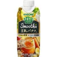カゴメ 野菜生活 100smoothie 豆乳バナナ ミックス 330ml ×6本 スムージー 無添...