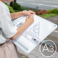 製図板 A3対応 内装・建設・図面作成に L型アタッチメント/水平定規付き @A3製図板  A3製図...
