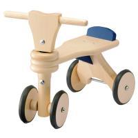 あんよが始まる1歳頃の子どもが乗ることを想定し、ハンドルの位置や座面の高さなどが設計された室内用木...