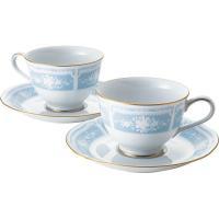 ノリタケ レースウッドゴールド ペアティー・コーヒー碗皿セット   Y6578A/1507 【ギフト対応不可】