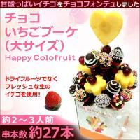 チョコいちごブーケ 大サイズ  【串本数】 約27本(約2〜3人前)  《果物一例》 ・パイナップル...