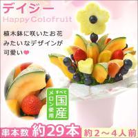 植木鉢に入った果物のお花みたいなフルーツブーケ お誕生日のお祝いプレゼントに!  デイジー  【串本...