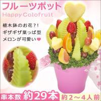 植木鉢に入った果物のお花みたいなフルーツブーケ お誕生日のお祝いプレゼントに!  フルーツポット  ...