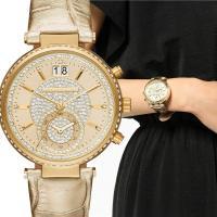 オールゴールドでゴージャスなマイケルコースの時計。 ギフトにもピッタリです♪  ◆ MICHAEL ...