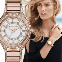 ★マザーオブパールの文字盤にクリスタルがデザインされたキレイな時計★  ムーブメント:クォーツ 色:...