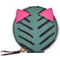 グリーンとピンクの猫のモチーフがかわいい★  カラー:グリーン・ピンク サイズ:長さ直径約10cm×...