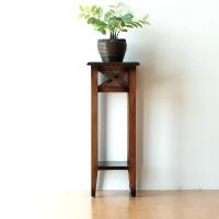 天然木マホガニー材特有の 温かみのある印象が特徴の花台  玄関やリビングで 花台や置物台として最適 ...