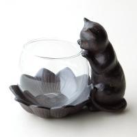 丸いグラスに小さなお花を飾ったり 小さなアクセサリーを入れたり 覗きこんでる子ねこが可愛いミニベース...