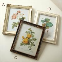 植物画を入れた アンティーク風の壁飾り  額縁は樹脂で出来ていて ヨーロピアンタイプです  スタンド...