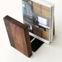 本立て ブックスタンド 木製 おしゃれ 天然木 インテリア ナチュラルウッドのブックエンド D