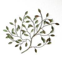 壁飾り アイアン 壁掛け インテリア アンティーク風 おしゃれ リーフ ナチュラル 植物 木 枝 ウォールデコ アートパネル アイアンの壁飾り グリーンブランチ