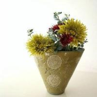 花瓶 花びん 陶器 おしゃれ フラワーベース アンティーク 花器 モダン デザイン 口が広い かわいい 和風 洋風 大きい 大きめ クラシックベース A