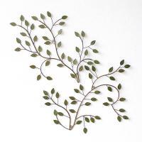 小さなグリーンの葉のアートなパネル  微妙に違う形は、 組み合わせてレイアウトするのも 楽しい作業に...