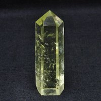 虹入り シトリン水晶 六角柱 t61-10249