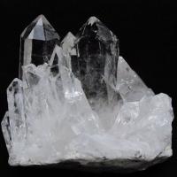 アーカンソー州産 水晶クラスター t619-4123