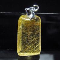 ルチルクォーツ(金針ルチル水晶) ペンダント  t86-4999
