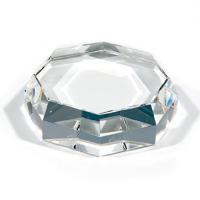 クリスタルペーパーウェイト 八角形 NKTR-0100 ガラス素材 サンドブラスト材料にも