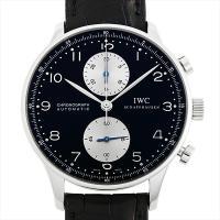 IWC ポルトギーゼ クロノグラフ IW371404 ステンレススティール/SS ブラック/Blac...