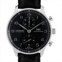 IWC ポルトギーゼ クロノグラフ IW371447 ステンレススティール/SS ブラック/Blac...