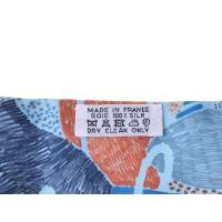新品エルメス HERMES ツイリー それぞれの巣作り 水色 青 グレー シルク100% 箱