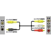 ビクター Victor ビデオコード(ピンプラグ×2-ピンプラグ×3) 1m 【VX-15G】 ※こ...