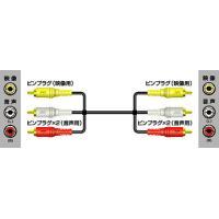 ビクター Victor ビデオコード(ピンプラグ×3-ピンプラグ×3) 2m 【VX-18G】 ※こ...