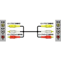 ビクター Victor ビデオコード(ピンプラグ×3-ピンプラグ×3) 0.5m 【VX-37G】 ...
