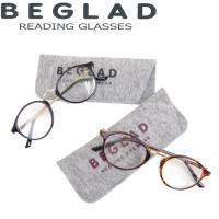 ビグラッド 老眼鏡 おしゃれ 男性用/女性用 シニアグラス リーディンググラス ケース付き 全2色 BE1018 BEGLAD 度数1-2.5 2個ご購入で メール便 送料無料