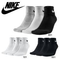ナイキソックス3PSX47013足組靴下コットンクッションクォーター+モイスチャーマネジメント部活や...