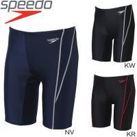 speedo(スピード)男子スクール水着。 ストレッチ性のある素材で、柔らかい着心地が特長のジュニア...