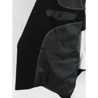 黒 無地 ダブル4つボタンスーツ【S74】【訳あり】【アウトレット価格】