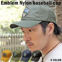 ベースボールキャップ エンブレム ナイロン アメカジ キャップ  帽子 メンズ CAP B/B